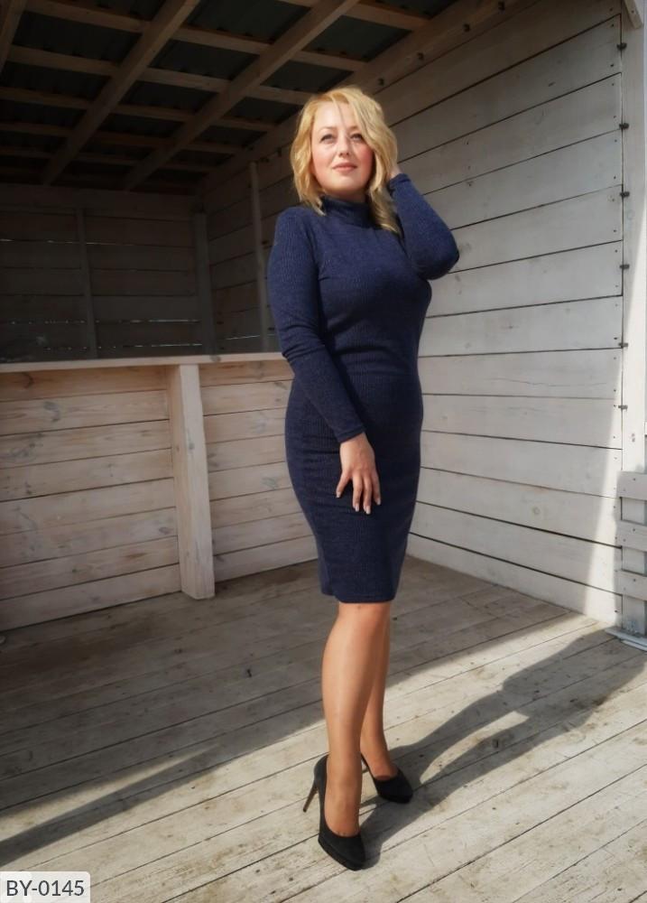Стильное платье  (размеры 50-56) 0213-08