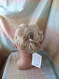 Резинка шиньон из волос жемчужный блонд  990-122, фото 3