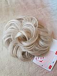 Резинка шиньон из волос жемчужный блонд  990-122, фото 5