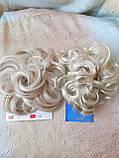 Резинка шиньон из волос жемчужный блонд  990-122, фото 4