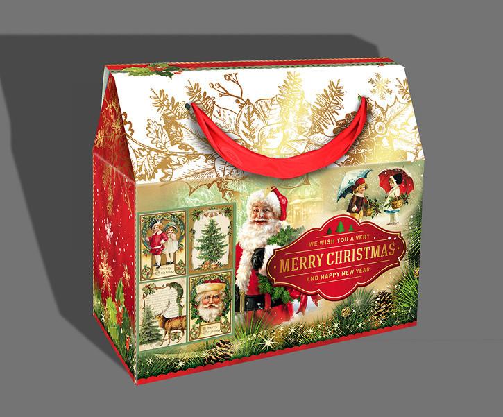 Подарочная бумажная коробка с ручками, 1000 грамм