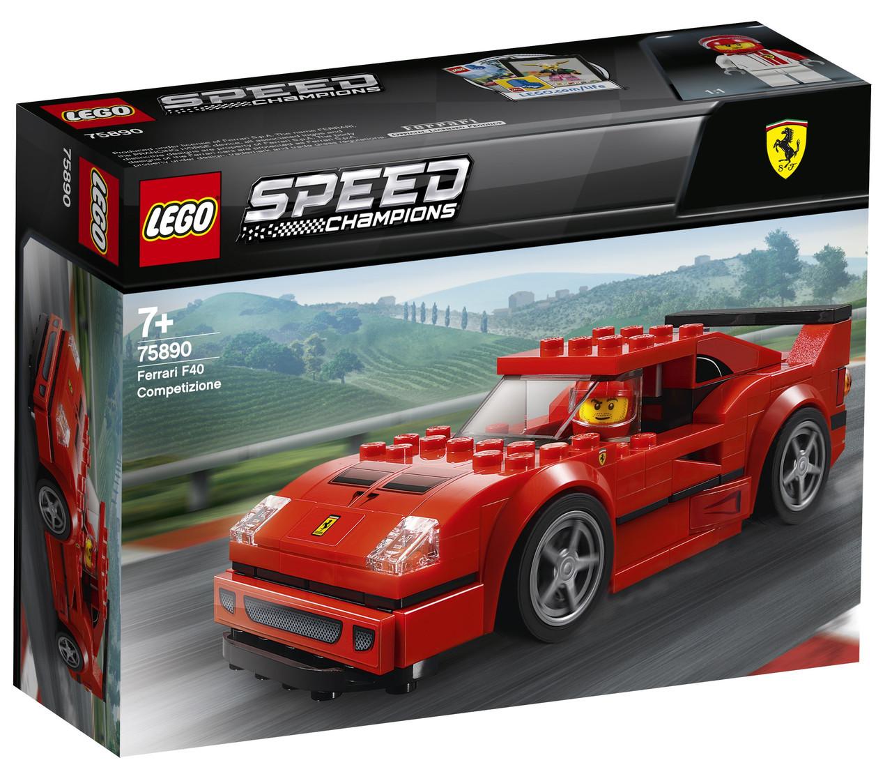 Lego Speed Champions Автомобіль Ferrari F40 Competizione 75890