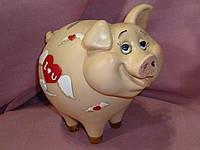 Свинья копилка полистероловая с пробкой 15 сантиметров высота