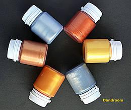 Набор акриловых красок для декора, Металлик, 6 цветов по 20 мл, ROSA ТАLENT