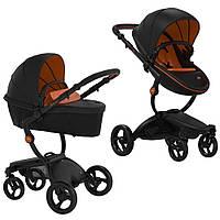 Коляска 2в1 Mima Xari REBEL Limited Edition - Black (Черный с оранжевым)
