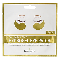 Гидрогелевые патчи под глаза BeauuGreen Collagen & Gold Hydrogel Eye Patch (1ea/2pcs)