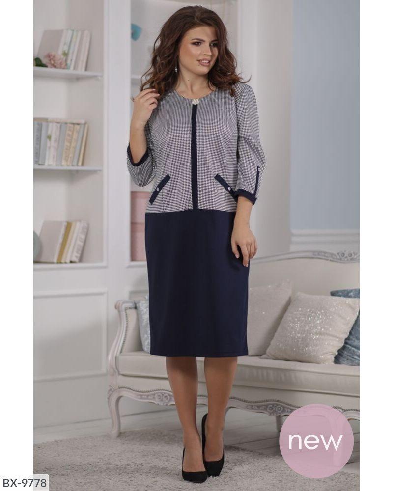 Стильное платье  (размеры 54-60) 0213-21