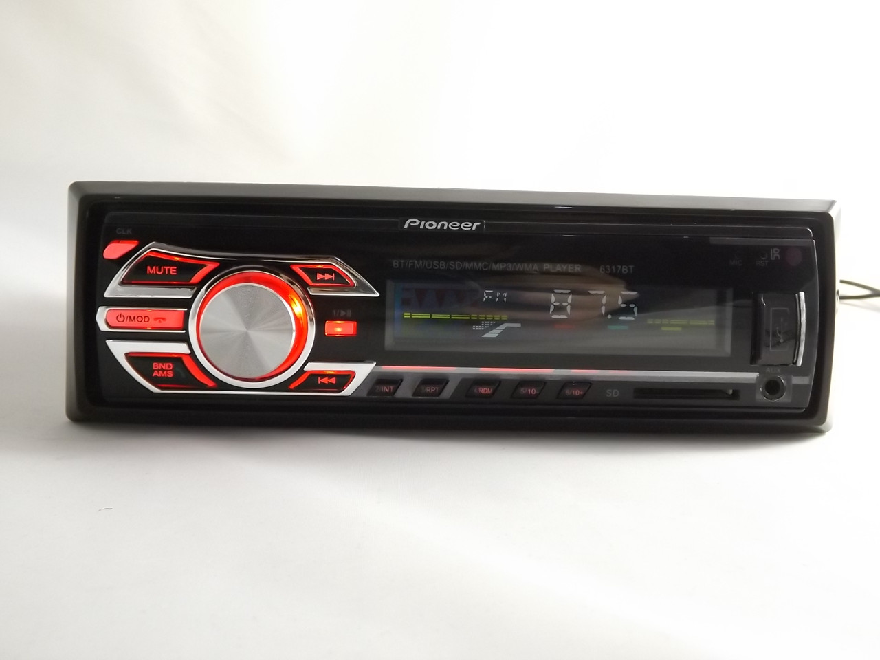 Pioneer 6317BT Bluetooth Usb+RGB подсветка+Fm+Aux+ Автомагнитола с пультом (4x50W)+ПОДАРОК!