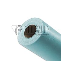 Одноразовые простыни в рулонах 0,6х100 метров 17 г/м2, медицинские, для индустрии красоты, голубые