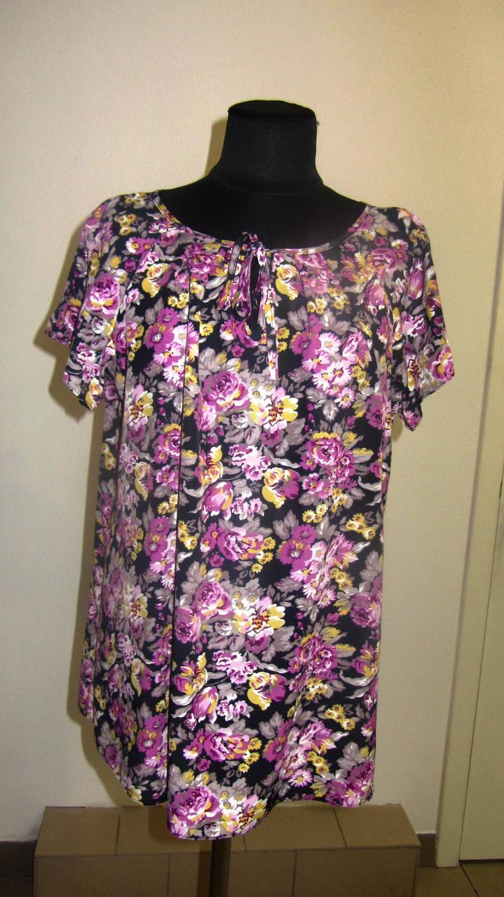 Женская одежда блузы ,тонкая вискоза , холодок ,100% вискоза , 50,52,54,56, БЛ 037-7.