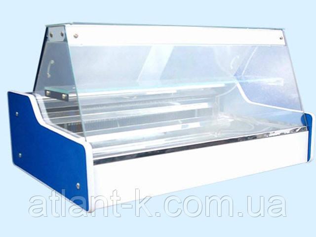 Витрина холодильная настольная ВХСн - 1.3 с прямым стеклом