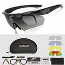 Очки тактические ESS Crossbow (5 цвет. линз, очки для линз с диоптриями, резинка), жесткий кейс, фото 5