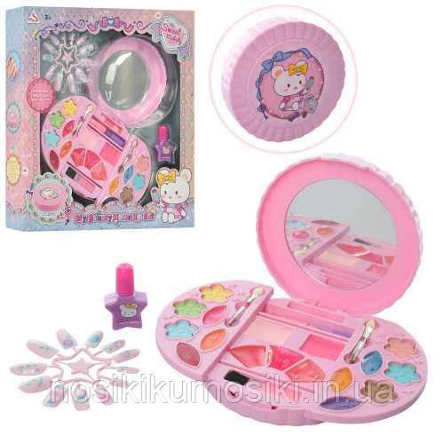 Игровой набор детская косметика - тени, румяна, лак для ногтей