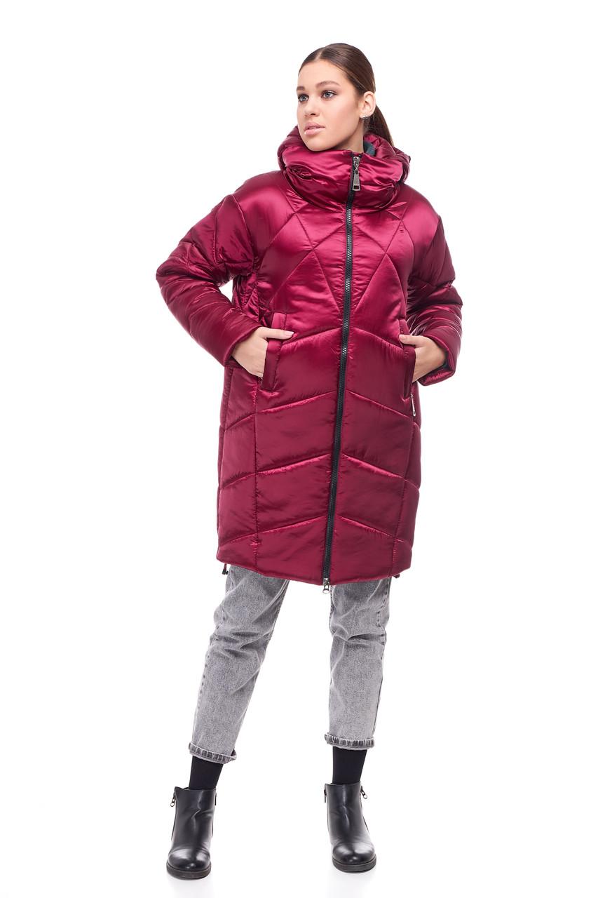 Новинка! Зимнее пальто-кокон на синтепухе Наоми размеры 42-54