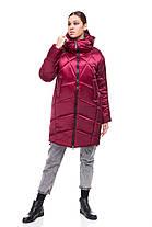 Новинка! Зимнее пальто-кокон на синтепухе Наоми размеры 42-54, фото 3