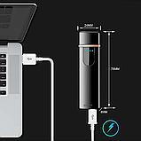 Электроимпульсная зажигалка USB SUNROZ TH-752 Black (n-35), фото 3