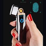 Электроимпульсная зажигалка USB SUNROZ TH-752 Black (n-35), фото 4