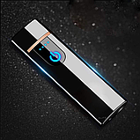 Электроимпульсная зажигалка USB SUNROZ TH-752 Black (n-35), фото 5