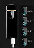 Электроимпульсная зажигалка USB SUNROZ TH-752 Black (n-35), фото 6