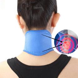 Турмалиновая накладка на шею согревающая с магнитами Синяя