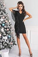 Платье женское норма крепдайвинг черное