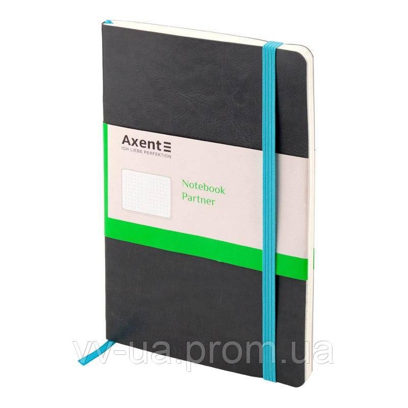 Книга записная Axent Partner 8209-03-A, А5-, 96 листов, точка, серая (8209-03-А)
