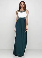 Темно-зеленое вечернее платьет С, М, Л