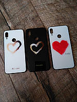 Стильний чехол For Love для телефону Xiaomi Redmi Note 7 на сяоми ксиоми редми ноте нот 7 бампер стеклянний