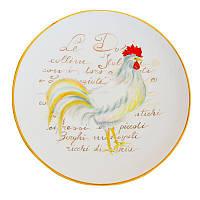 Тарелка подставная Италия Ceramica Cuore Нарядный петушок 30,5 см рис-6