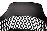 Стілець на колесах LAVANDA ROLL чорний поліпропілен (безкоштовна доставка), фото 6