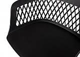 Стілець на колесах LAVANDA ROLL чорний поліпропілен (безкоштовна доставка), фото 8