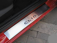 Накладки на пороги Renault Clio 3 (2005+)