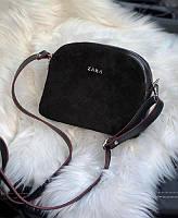 Женская сумка кросс-боди в стиле Zara Черная