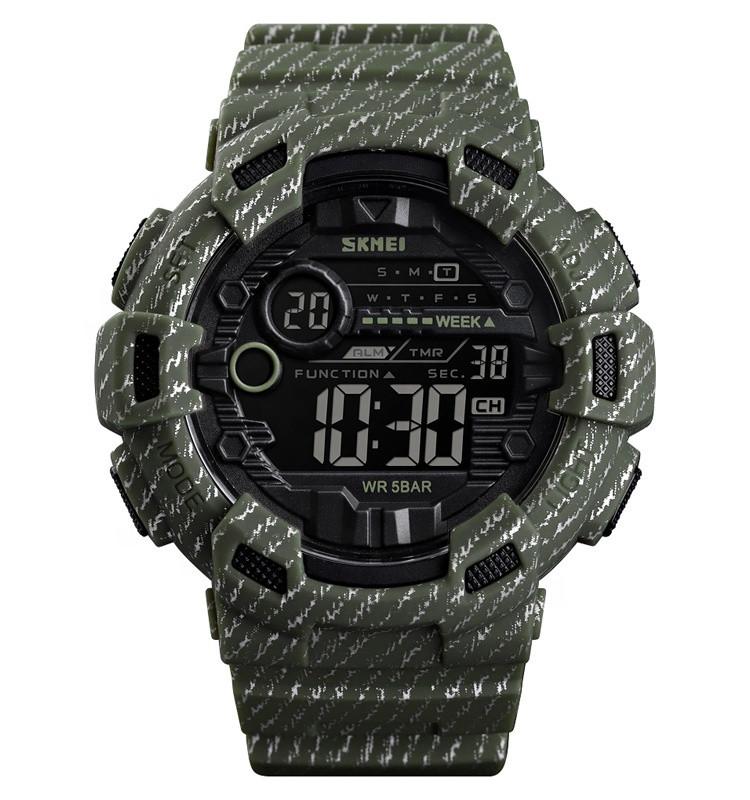 Skmei 1472 champion зеленые мужские спортивные часы
