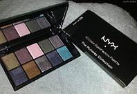 Палитра теней  NYX 10 цветов № 9 перламутровые, фото 1