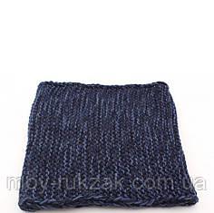 """Снуд вязаный женский  """"Юта"""" темно - синий меланж 906254"""