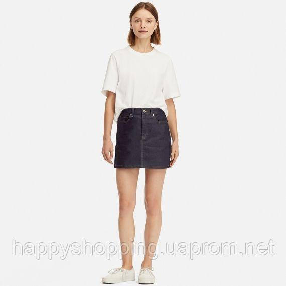 Женская джинсовая мини юбка Uniqlo (Размер - S)