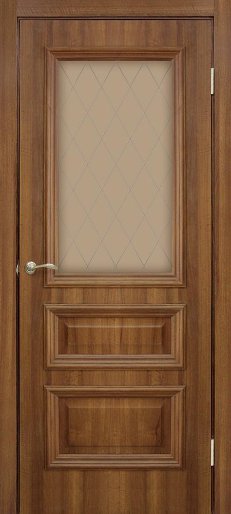 Дверь межкомнатная Омис Сан Марко 1.2 СС+КР стекло бронза