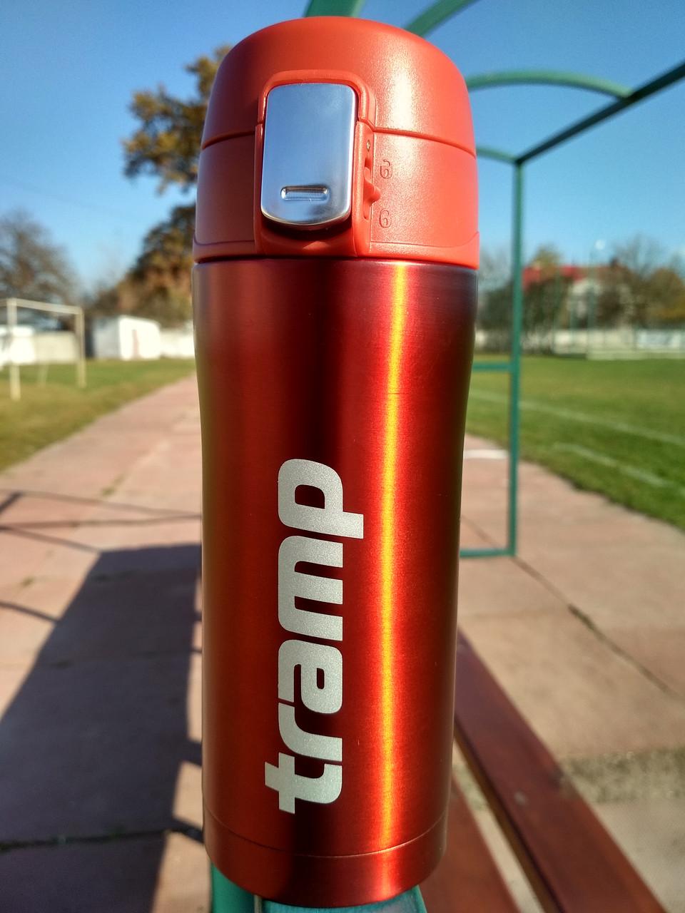 Термокружка Tramp 0,35 л красный металлик TRC-106-red. Кружка термос 350 мл.