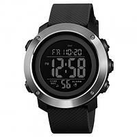 Skmei 1416 черные с железным кантом мужские спортивные часы, фото 1