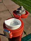 Термокружка Tramp 0,35 л красный металлик TRC-106-red. Кружка термос 350 мл., фото 2
