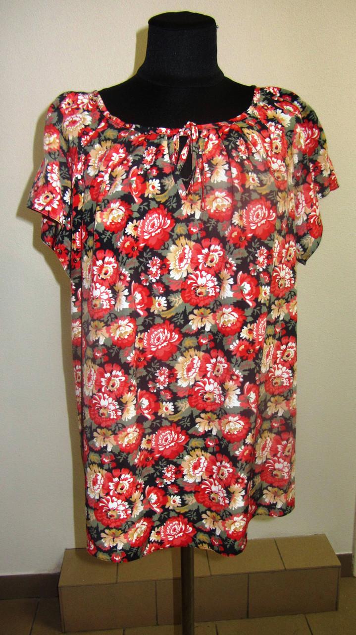Купить блузку +в интернете, тонкая вискоза , холодок ,100% вискоза , 50,52,54,56, БЛ 037-11.