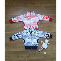 Кофта детская трех-нитка супер теплая с карманами .Орнамент вышивки