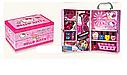Детский маникюрный набор в чемодане Hello Kitty — лак для ногтей, тени, очки, украшения, фото 2