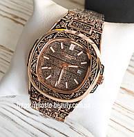 Мужские часы Patek Philippe Nautilus (Патек Филипп) с узором и датой Реплика (копия)