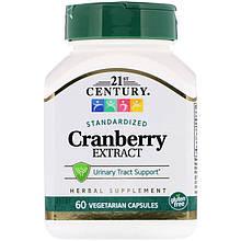 """Экстракт клюквы 21st Century """"Cranberry Extract"""" здоровье мочевыводящих путей (60 капсул)"""