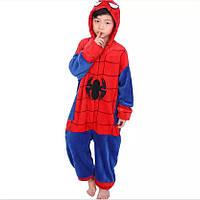 Детская пижама кигуруми комбинезон теплая качетственная Спайдермен