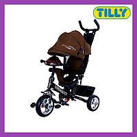 Велосипед трехколесный TILLY TITAN (T-348 Коричневий), музыкальная фара, надежная рама, Тилли Титан