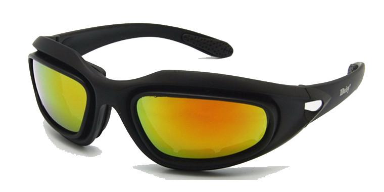 Очки тактические Daisy C5 (4 цвет. линзы, резинка, чехол), жесткий кейс