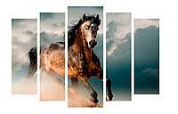 Модульная картина Декор Карпаты 120х80 см Лошадь (M5-я447)